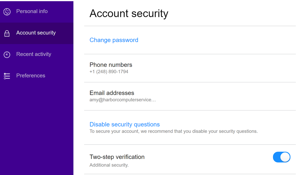 can t remember security questions yahoo