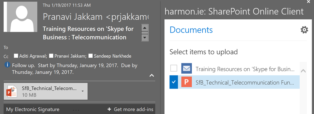 How to save email attachments to sharepoint or onedrive