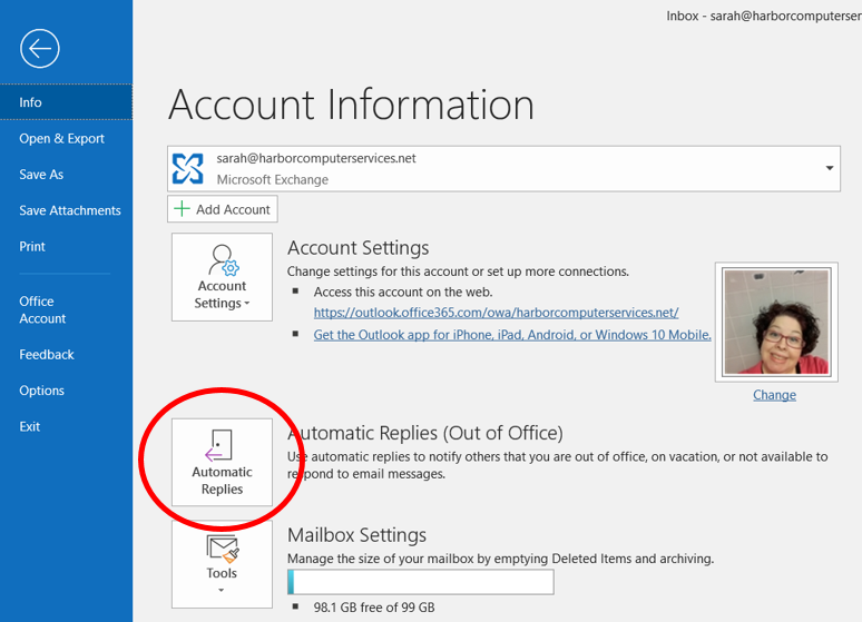 How to Set an Automatic Out of Office Reply in Outlook - 248
